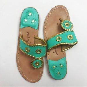 Jack Rogers | Navajo Turquoise Gold Sandals